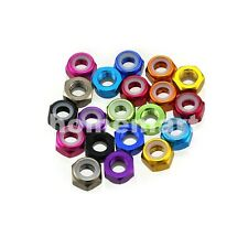 M2 M3 M4 M5 NEW Color Nylon Insert Self-Lock Hex Lock Nut Aluminum Locking Nuts