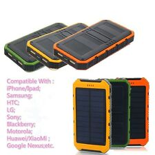 8000mAh Power Bank USB External Portable Solar Charger Battery For Phone LG HTC