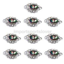 10x 3D Nail Art Decoration Stickers Metal Shiny Rhinestones Nail Art Tips DIY