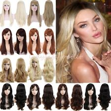 NEW Women Hair Wig Long Straight Cosplay Daily Party Full Wig Black Brown Blonde