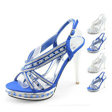 SHOEZY womens diamanted high heels party stilettos platform sandal shoes size AU