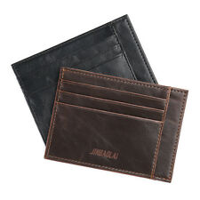 New Mens Leather Wallet Money Clip Credit Card ID Holder Slim Front Pocket
