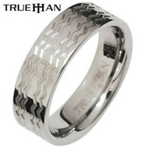Bee Waves Tungsten Band Trueman Carbide Mens Ring Size 8.25-13.25