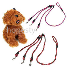 3 Way Nylon Triple Coupler Rope Braided For Puppy Dog Pet Walking Leash Leads
