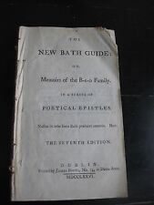 Antiquarian book compilation New Bath Guide, Shakespeare, Sheridan 18th century