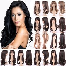 Latest Long Hair Wig Straight Curly Wavy Women Cosplay Daily Highlight Full Wigs