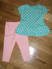 Carters Girls Pant Outfit Set Polka Dots & Stripes Size 12 M ,18 M Months NWT