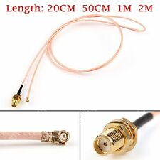 RG178 Cable SMA Female Bulkhead To IPX U.FL Coax Pigtail Adapter