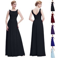 Ladies Evening Party Ball Gown Cocktail  Prom Dresses Size 8 Long RED/Black/Blue