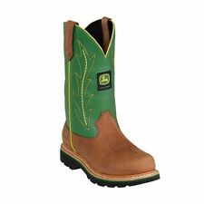 John Deere JD3286 Women's Green Pull-On Wellington Boots - New With Box