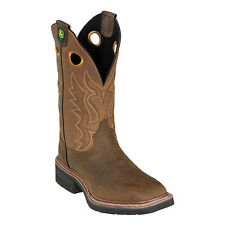 New John Deere JD5214 Men's Tan Pull-On Wellington Boots