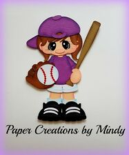 Craftecafe Mindy Sports Softball Baseball girl premade paper piecing scrapbook