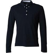 Peter Werth Mens L/S Polo - Benwell - Navy - RRP £45 - SALE *BNWT*