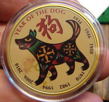 1oz. Lunar Chinese Silver Round---Year of the Dog---.999 Silver