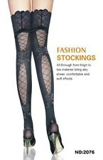 Sexy Back Pretty Pattern Lace Top Thigh-Highs Tights Stockings Pantyhose-2076