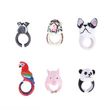 Fashion Lovely Hot Cartoon Resin Animal Finger Rings Animal Design Jewelry