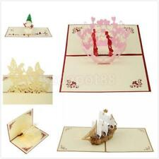 Cute 3D Pop Up 5 Theme Birthday/Wedding/Thank U/Easter Favor Greeting Card Gift