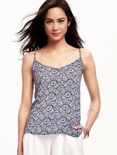 NWT Old Navy Women's Navy Rayon Sleeveless Open-Back Cami Top L/XL sizes
