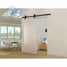 diamond  Hardware Wood  Barn Door Hardware  Sliding  Track Black Kit 13FT
