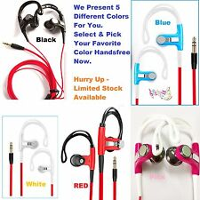 HEADPHONES OVER IN EAR SPORTS HOOK EARPHONES FOR SPORTS RUNNING GYM HTC SAMSUNG