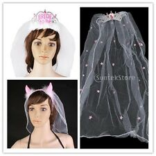 Hen Night Party Supplies HeadBand Bride to Be Tiara with Veil Fancy Dress