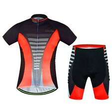 2016 Fashion AOGDA Men's Riding Team Cycling Jerseys+Bib shorts Red-Black