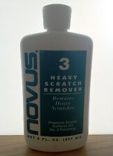 Novus Plastic Polish 3 Heavy Scratch Remover 237ml bottle + 1 polish mate cloth
