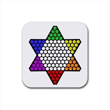 Chinese Checkers Bottle Opener Keychain and Beer Drink Coaster Set