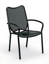 All Weather Wrought Iron Dining Chair w Arms - Alissa-Set of 4 [ID 370563]