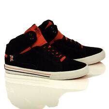 Supra Society Mid Black/Red/White Men's Skate Shoes Style#:S46046 SIZE: 11.5
