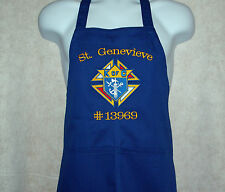 Apron, Knights of Columbus, Large Logo With Council Number and  Name , AGIFT 457