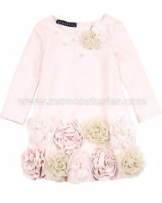 Biscotti Girls' Cozy Couture Dress with Flowers, Sizes 18M-10
