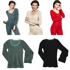 Women Thermal Long Johns Short Sleeve T-Shirts Winter Warm Thermal Underwear Hot