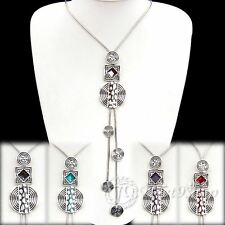 Special Offer,  Coloured Glaze Silver Plated Alloy Necklace XC653