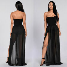 Women Sexy Off Shoulder Long Dress Prom Gown Ball Evening Cocktail Party Dresses