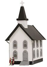 Model Power-Structure Deluxe Built-Up Lighted w/2 Figures -- Church - N