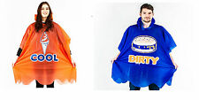 Fast Food Poncho Festival Waterproof Clothing Garden Party Fun Novelty Gift New