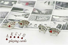 Preetty Girls Adjustable Poker Design Playing Cards Fashion Finger Rings Jewelry