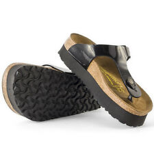 Birkenstock Papillio Gizeh Womens Sandals Black Patent New Shoes
