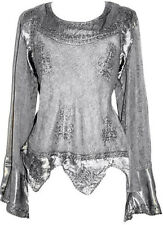 106 B Renaissance Peasant Gypsy Victorian Embroidery Gothic Blouse Top Blouse