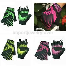 QEPAE Breathable Bike Cycling Gloves Unisex Sportswear Short Half Finger Gloves