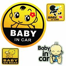 Vinyl Car Sticker Child Safety Vehicle Signs Baby On Road Mama In Car