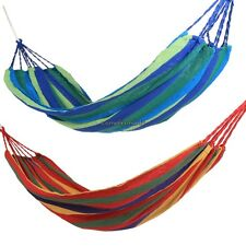 Cotton Rope Hammock Swing Canvas Fabric Camping Travel Hanging Bed F/ Outdoor