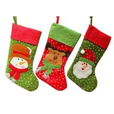Christmas Stocking Sock Hanging Gift Bag Holder Xmas Decoration for Kids Toys