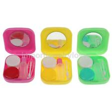 Portable Contact Lens Tweezers Travel Kit Case Soak Storage Holder Container