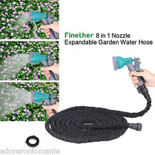 8 in 1 Nozzle Expandable Garden Water Hose Latex Pipe 25FT/ 50FT/75FT/100FT USA
