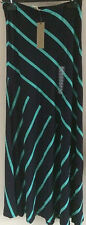 BRAND NEW NAVY / TEAL STRIPE MAXI SKIRT BY MATTY M  EASY FIT STRETCH  BNWT