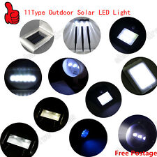 11Type Outdoor Solar LED Garden Fence wall gutter Path Motion Sensor Light FJ