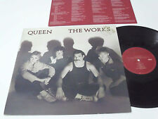 QUEEN THE WORKS LP GOLD STAMPED PROMO MINT WITH PICTURE/LYRIC INSERT MINT