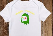 "Cute Vegetarian/Vegan Veggie Monster"" Baby Onesie - Earth Friendly Pescatarian"
